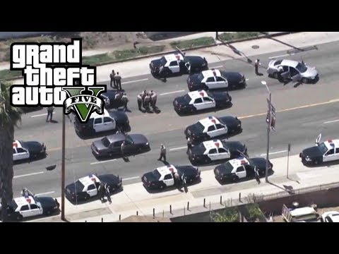 GTA 5 - REAL COPS MOD!! UNBELIEVABLE CHASE (Episode 2) Biggest GTA 5 Stars Police Chase EVER!