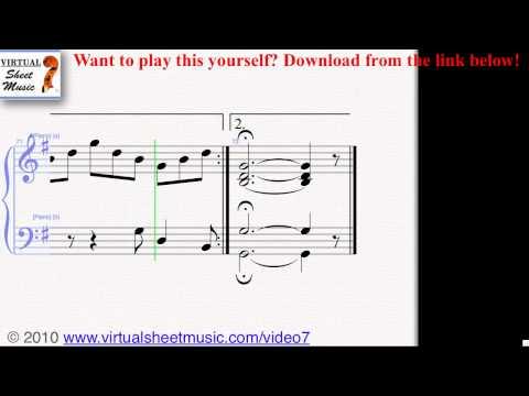 Bach's Jesu, Joy of Man's Desiring piano sheet music - Video Score