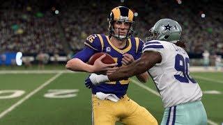 Madden 20 Gameplay Los Angeles Rams vs Dallas Cowboys (Madden NFL 20 Gameplay)