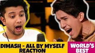 "SINGER Reacts to DIMASH - ""All By Myself"" (WORLDS BEST) 