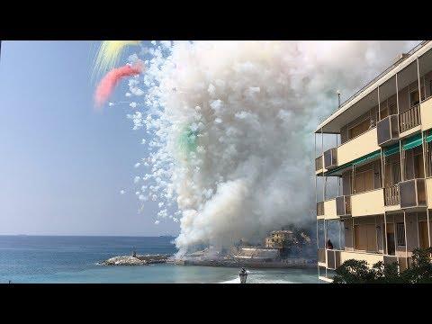 Sagra del fuoco Recco, Italy