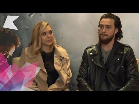 Aaron TaylorJohnson & Elizabeth Olsen   Avengers: Age of Ultron