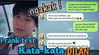 Video Ngakak! Parody DILAN prank text pake kata-kata film dilan download MP3, 3GP, MP4, WEBM, AVI, FLV Mei 2018