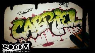 Graffiti GABRIEL - How to draw graffiti names | By ScooM