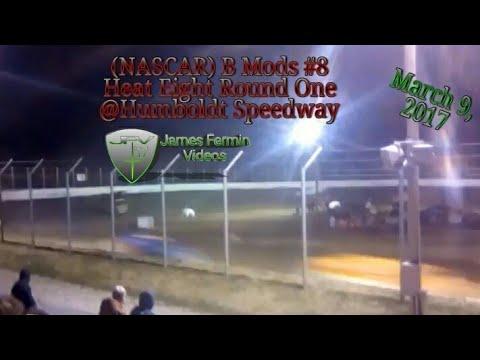 B Mod #8, Round 1 Heat 8, Thursday Night, Humboldt Speedway, 2017