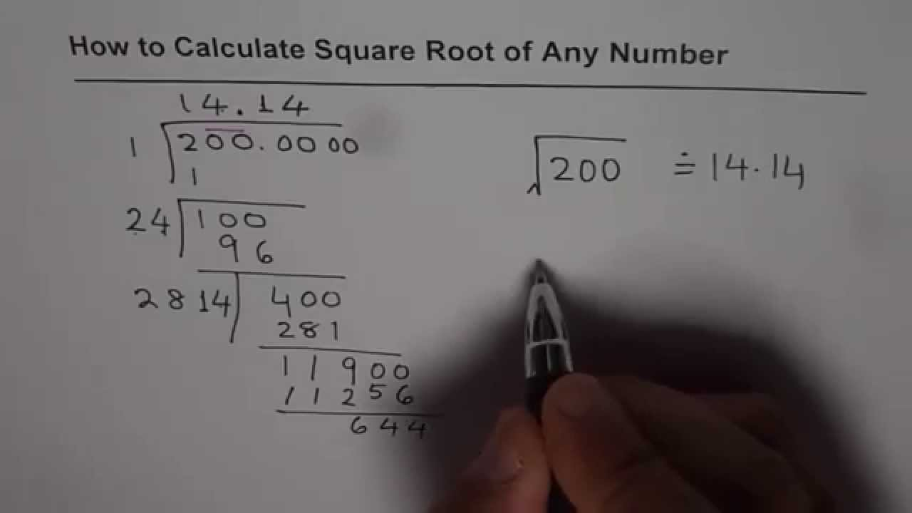 How to compute square root — photo 2