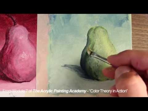 Acrylic Painting - Analogous Color Scheme
