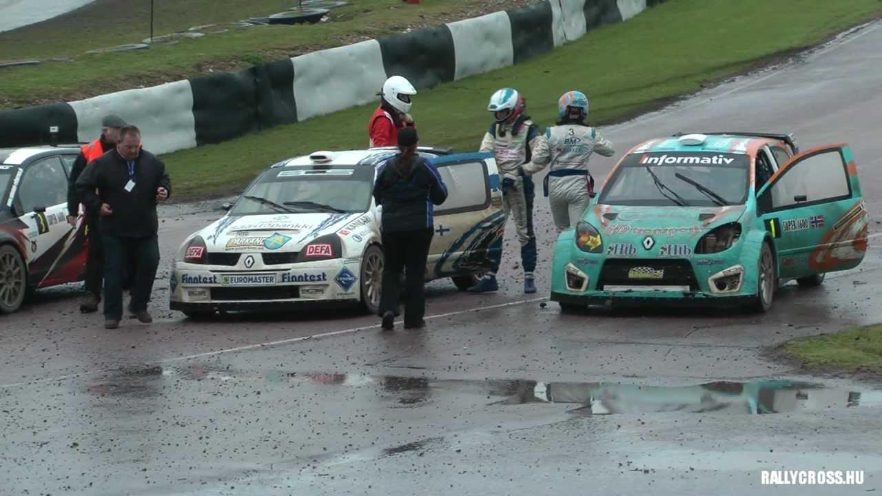 ERC Rallycross UK Super1600 A-final 2012 - YouTube