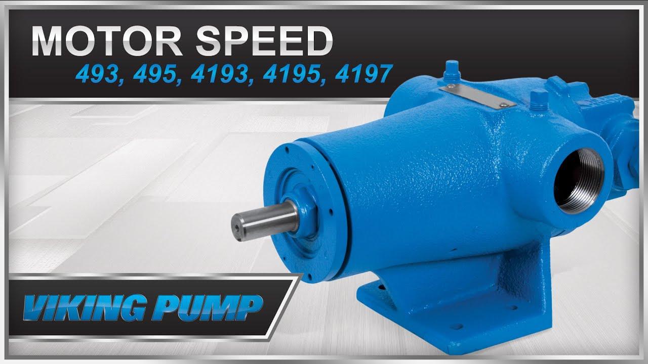 Viking Pump Motor Speed Series 493, 495, 4193, 4195, 4197 Pump Repair Kit  Installation