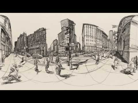 360 illustration: At the corner of Empire State Building