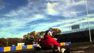 Raceway Park Englishtown New Jersey 11/14/2010 Tag Masters Kart Race on board cam