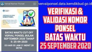 Cara Verval Ponsel Dapodik 2021 - Batas Terakhir Verval Ponsel 25 September 2020   lakukan Verval