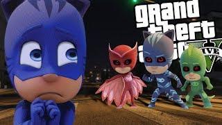 EVIL PJ Mask MOD w/ Catboy, Gekko & Owlette (GTA 5 PC Mods Gameplay)