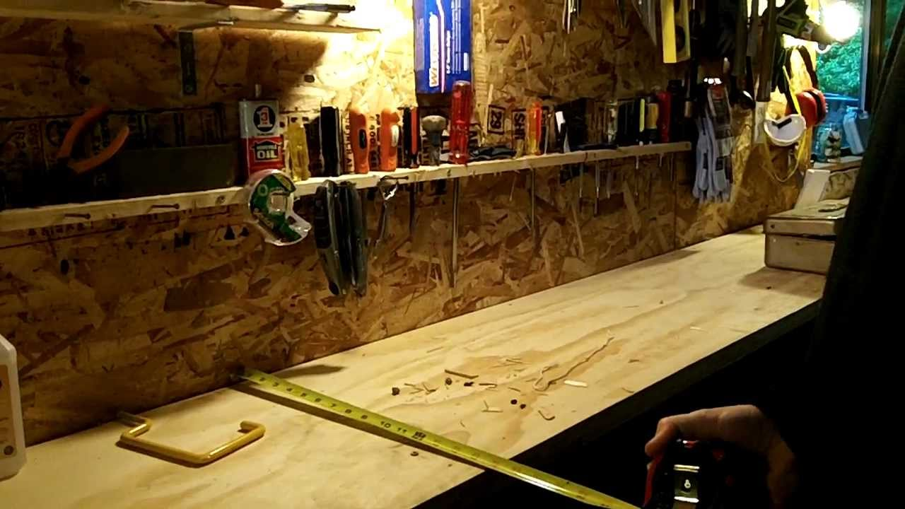 How To Organize Your Tools And Build A Spacious Garage Workbench