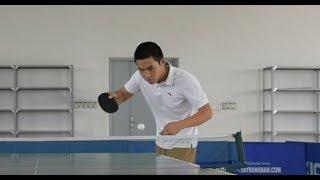 Bóng bàn Việt Nam cơ bản - Kỹ thuật giao bóng cơ bản tập 3. giao bóng lắc ngược