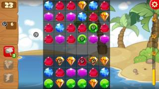 Pirate Treasures - Gems Puzzle (by TAPCLAP) - puzzle game for android and iOS - gameplay.