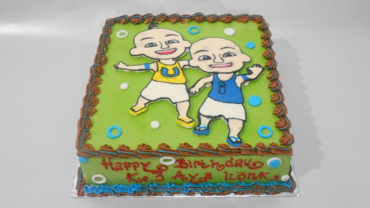 Upin Ipin Birthday Cake How to Make Easy YouTube