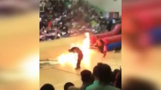 Florida pep rally stunt ends in disaster