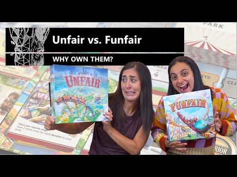Unfair vs. Funfair - Why Own Them? Mechanics & Theme Board Game Review & Comparison