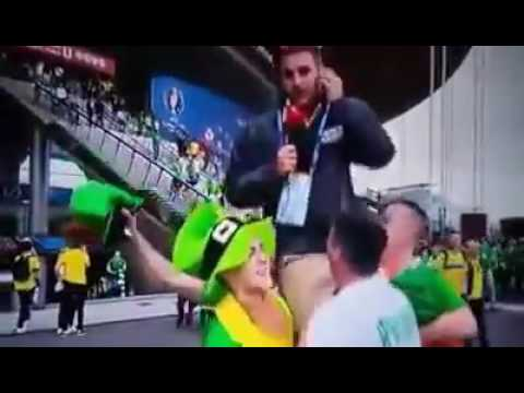 Irish fans take the piss out of Hungarian tv presenter | Hey Bro.ie thumbnail