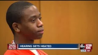 Victim's family responds to heated moments in court hearing for man accused of killing officer