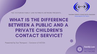 What is the Difference Between a Public and a Private Children's Contact Service?