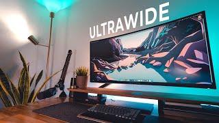 2021 Home Office Setup   Ultrawide DIY Desk Upgrade + Tour
