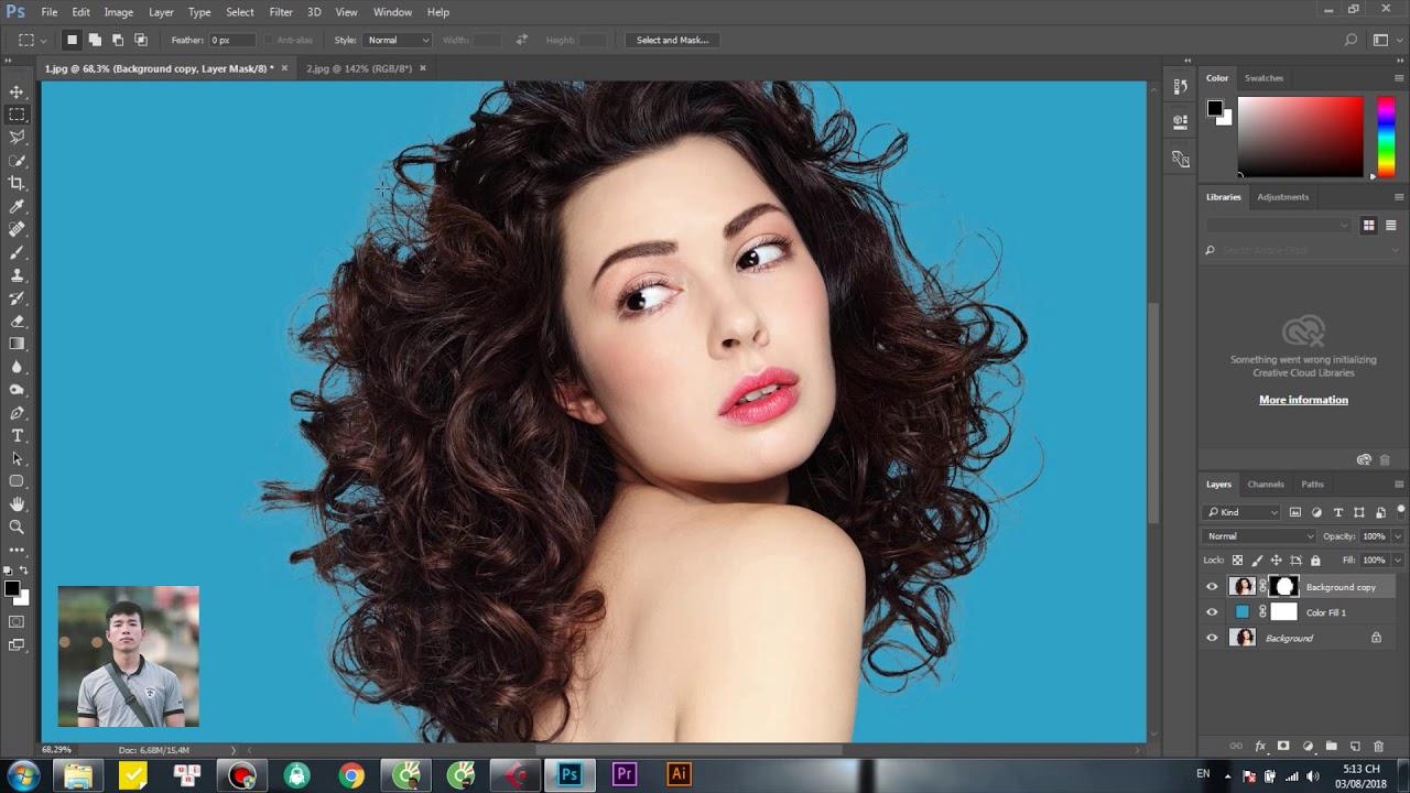 2 Cách Tách Tóc Hiệu Quả Trong Photoshop | Tự Học Photoshop