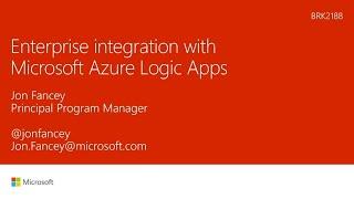 Enterprise integration with Microsoft Azure Logic Apps