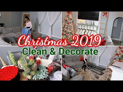 Christmas Clean And Decorate With Me 2019 | Christmas Home Tour | Rose Forever | Cleaning Motivation