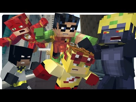 Minecraft: SuperHero Sidekicks Save Batman and Flash! (Minecraft Roleplay)