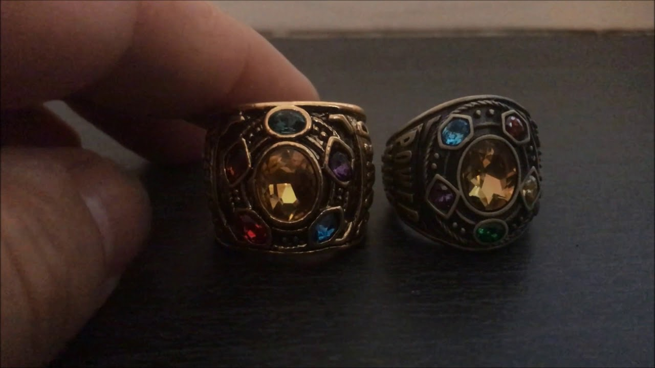 317a9f78294d0 Avengers Infinity War Thanos Ring Comparison Real vs Fake