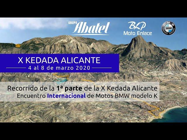 La Vila Joiosa. 1ª Parte de la X Kedada Alicante 2020. Encuentro Internacional  Motos BMW modelo K.