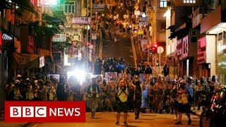 Hong Kong protests: China condemns 'horrendous incidents' - BBC News