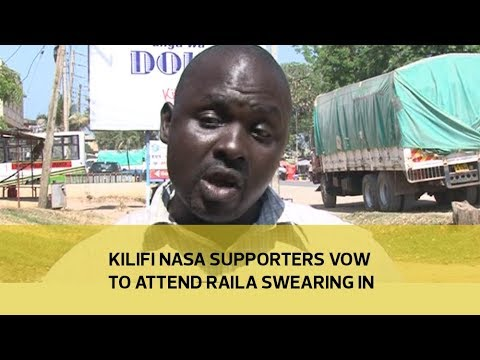 Kilifi NASA supporters vow to attend Raila swearing in