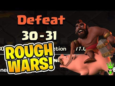 WE ARE GETTING OUR BUTTS KICKED! - Clan War Leagues! -