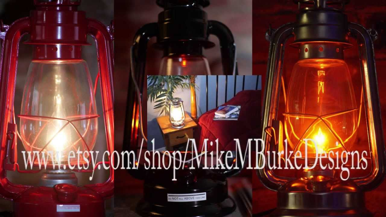 Electric Hurricane Lanterns From Mikemburkedesigns