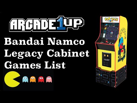 Arcade1Up Bandai Namco Legacy Cabinet   Games List from Original Console Gamer