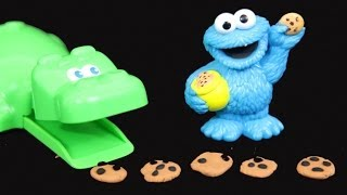 Hungry Hippos Play-doh 5 Little Cookies Rhyming Story With Cookie Monster Alltoycollector