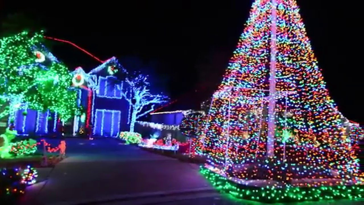 Xmas Light Show at Anna Ct, Cedar Park, TX - YouTube