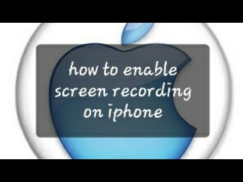 How to enable screen recording on iphone