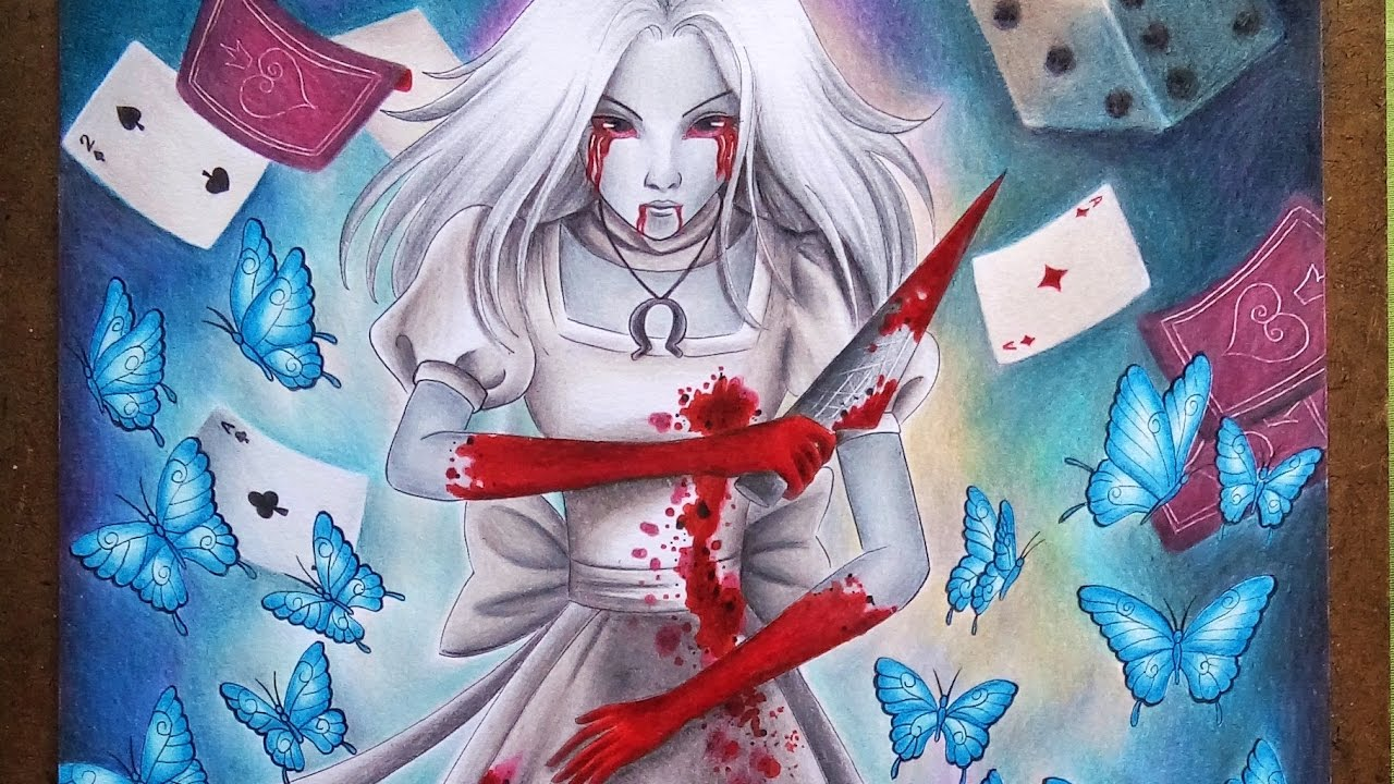 Speed Drawing Alice Alice Madness Returns Youtube