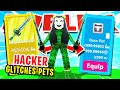 *HACKER* GIVES ME DUPLICATED *GLITCHED* PETS & GLITCH SABER IN ROBLOX SABER SIMULATOR (Insane Stats)