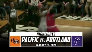 Pacific vs. Portland Basketball Highlights (2019-20) | Stadium