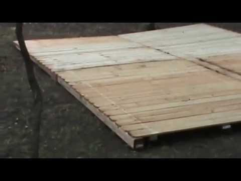 Tent deck construction youtube for Tent platform construction