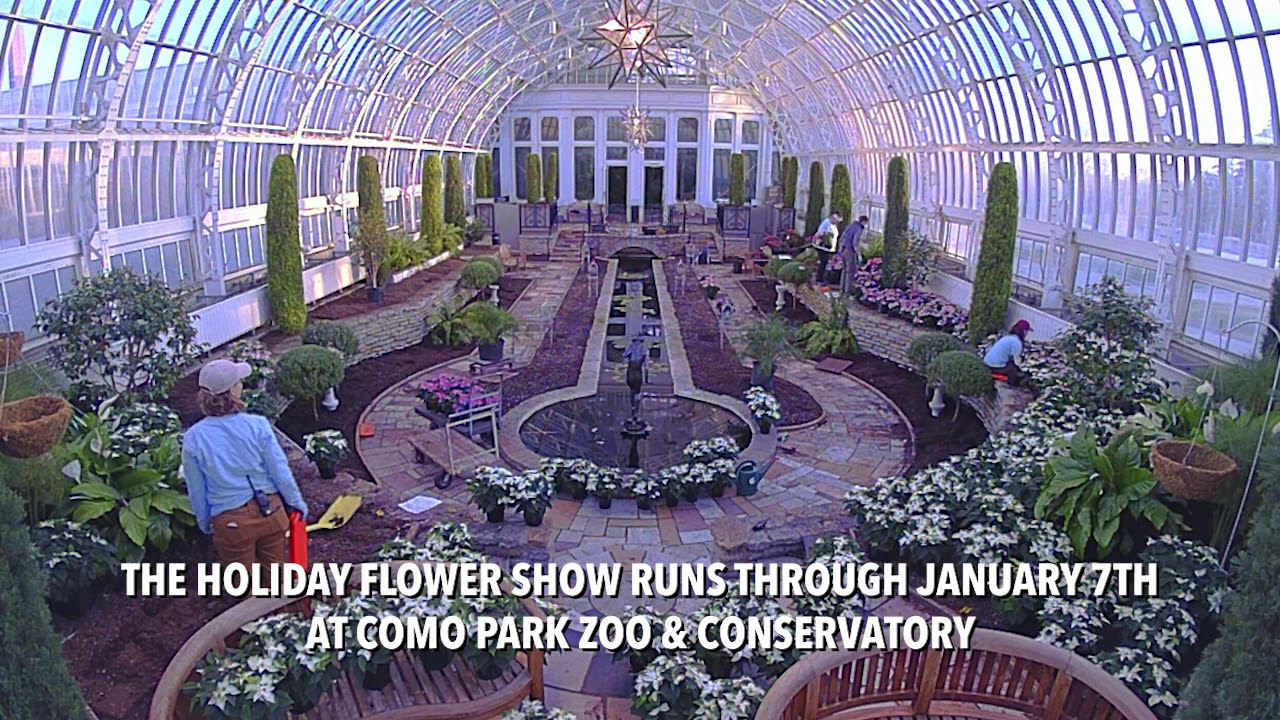 Holiday Flower Show At Como Park Zoo Conservatory Youtube