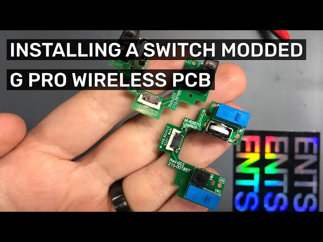 Installing  my modded GPW PCB into a Logitech G Pro Wireless – Easiest way to replace the switches!