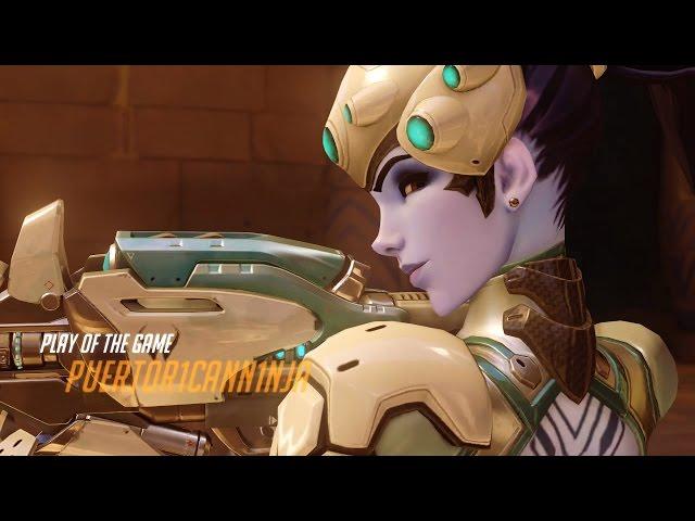 Overwatch | Widowmaker + Pharah Comp Match [Solo Queue]