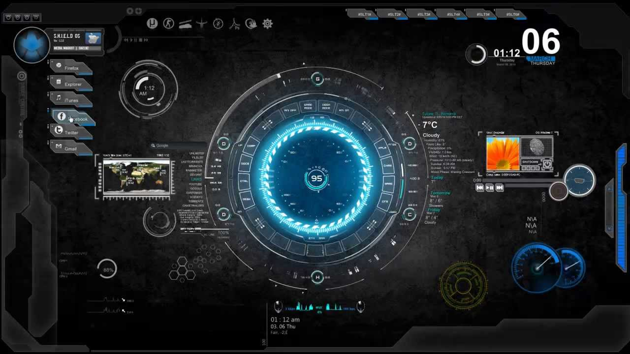 Updated 2019 Best Rainmeter Themes/Skins for PC Windows 10 8 & 7