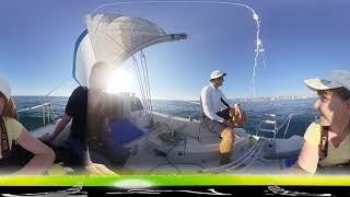 04 Путешествие на лодке в открытое Чёрное море - Сочи - 360 / Видео